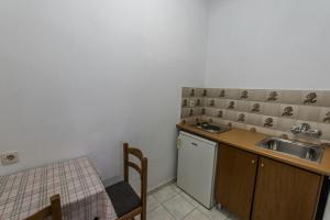 A kitchen or kitchenette at Hotel Irini