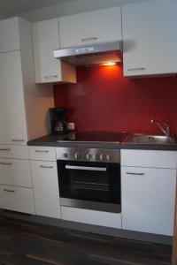 A kitchen or kitchenette at Landhaus Luzia
