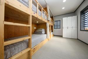 A bunk bed or bunk beds in a room at Bohemian Guest House and Pension