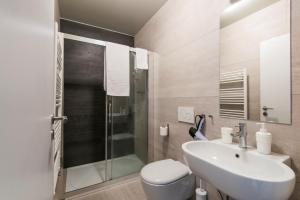 Ванная комната в Rehorova apartments