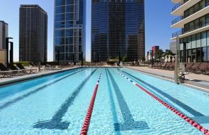 The swimming pool at or near Aqua
