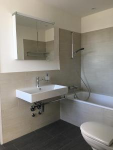 A bathroom at Close to Zürich centre and Airport