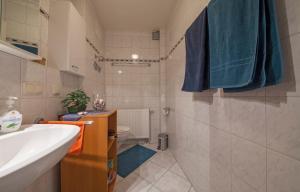 A bathroom at cozy tiny Apartment