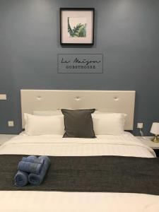 Katil atau katil-katil dalam bilik di Le Maison GuestHouse Ipoh @ Studio Octagon