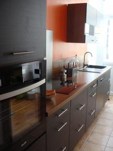 Køkken eller tekøkken på Le Mazérien