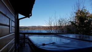 The swimming pool at or near Loch Insh Chalets Ltd