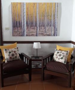 A seating area at Casa Conchita