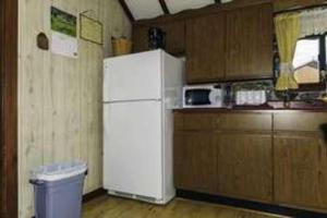 A kitchen or kitchenette at Celtic Cove #1