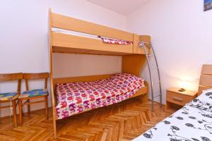 A bunk bed or bunk beds in a room at Apartments Luciano 621