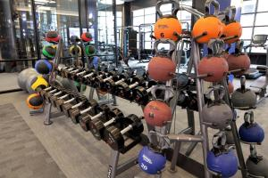 The fitness center and/or fitness facilities at Stay Alfred on South Charles Street