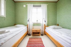 Postelja oz. postelje v sobi nastanitve Nivagården