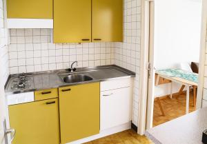 A kitchen or kitchenette at Beautiful Studio Lake View and Castle