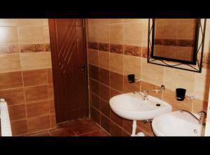 Vonios kambarys apgyvendinimo įstaigoje Marijonu Apartments