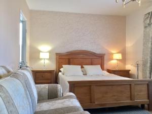 Ein Bett oder Betten in einem Zimmer der Unterkunft Ullanlinna Studio