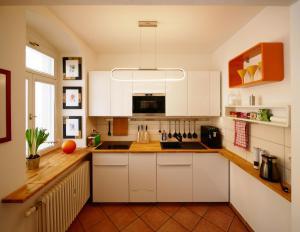 Küche/Küchenzeile in der Unterkunft Neustadt - Paradies