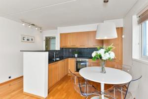 Forenom Serviced Apartments Oslo Aker Brygge廚房或簡易廚房