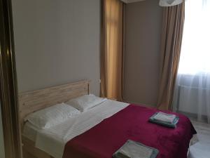 Postelja oz. postelje v sobi nastanitve 1st Batumi