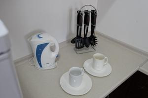 Coffee and tea-making facilities at Aparthotel Almarent
