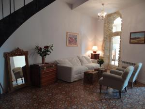 A seating area at Villa Colonna Appartements
