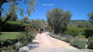 A garden outside Villa L'Olivia