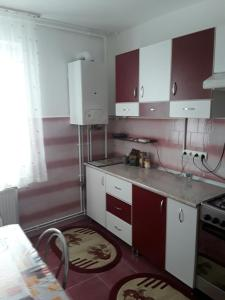 A kitchen or kitchenette at University Apartment