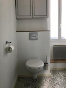 Salle de bains dans l'établissement Gite ancien relais de saint jacques