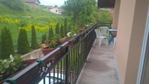 A balcony or terrace at Apartman Green Paradise