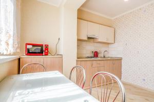 Kuchyň nebo kuchyňský kout v ubytování Apartment on 16А Obolonskyi Avenue