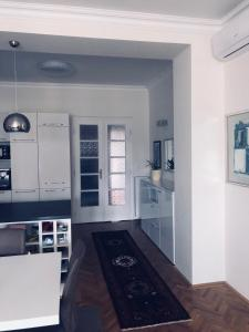 A kitchen or kitchenette at Modern apartment behind Castle district in Buda