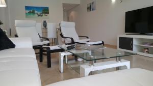 A seating area at Olvera Costalita