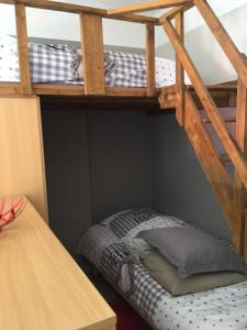 A bunk bed or bunk beds in a room at Appartement cosy et agreable