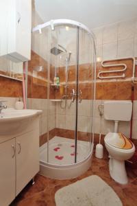 Vannituba majutusasutuses Apartman Svilno