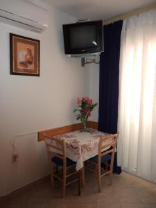 A television and/or entertainment center at Jandric Apartments