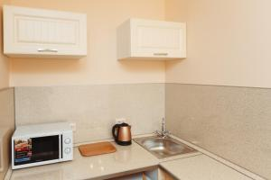 A kitchen or kitchenette at YouPiter apartments