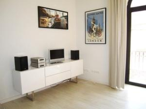 A television and/or entertainment center at 182