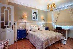 Cama o camas de una habitación en Atico dúplex en Playa de Tufia