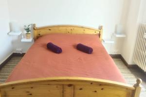 A bed or beds in a room at Au cœur de Strasbourg, 3 pièces vue sur l'Ill!