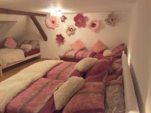 Postelja oz. postelje v sobi nastanitve DELUX duplex apartment