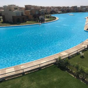 The swimming pool at or near Villa Twin House Marassi, First Row On The Only Swimable lagoon