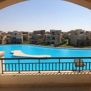 A view of the pool at Villa Twin House Marassi, First Row On The Only Swimable lagoon or nearby