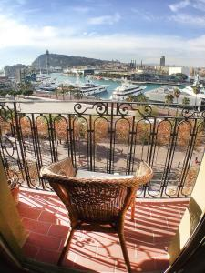 A balcony or terrace at Barceloneta Port Ramblas
