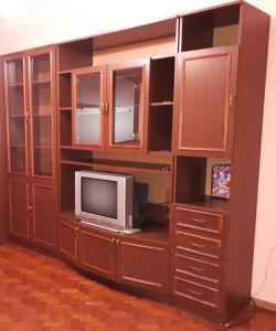 Телевизор и/или развлекательный центр в Апартаменты на Южно-Моравской
