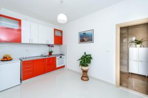 Cuisine ou kitchenette dans l'établissement Luxury Apartments