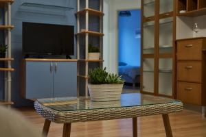 TV in/ali zabaviščno središče v nastanitvi Modern apartment in the center of Ankaran