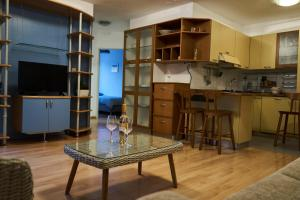Kuhinja oz. manjša kuhinja v nastanitvi Modern apartment in the center of Ankaran