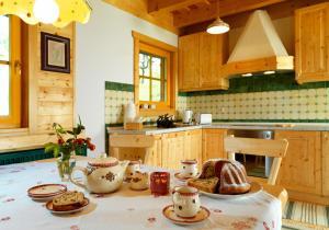 A kitchen or kitchenette at Farm Stay Pirc
