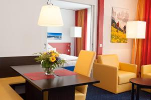 Ein Sitzbereich in der Unterkunft Stay2Munich Hotel & Serviced Apartments