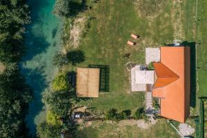 A bird's-eye view of Plitvice Chalet