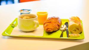 Options de petit-déjeuner proposées aux clients de l'établissement Montempô apparthotel Lyon