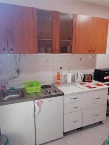 A kitchen or kitchenette at Apartment Magnolija